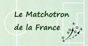 Matchotron de la France. Football Coupe du Monde